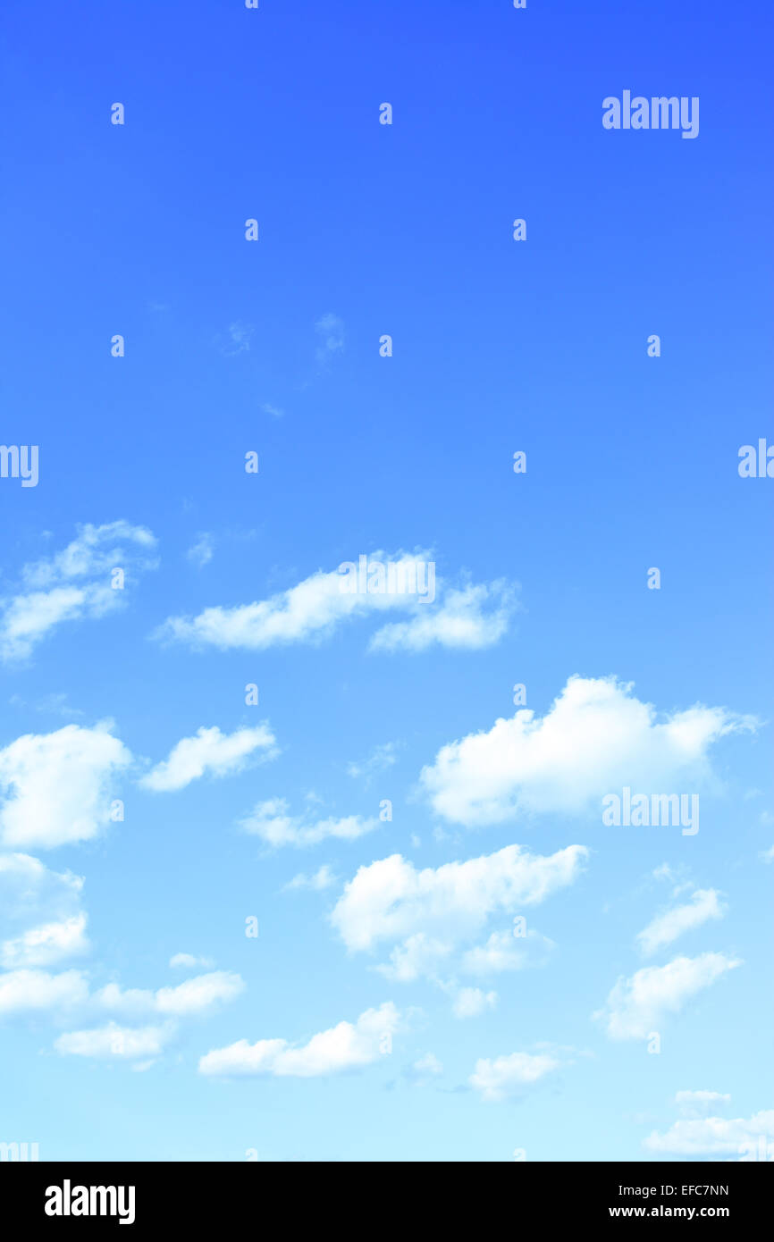 Sky and clouds, may be used as background - Stock Image