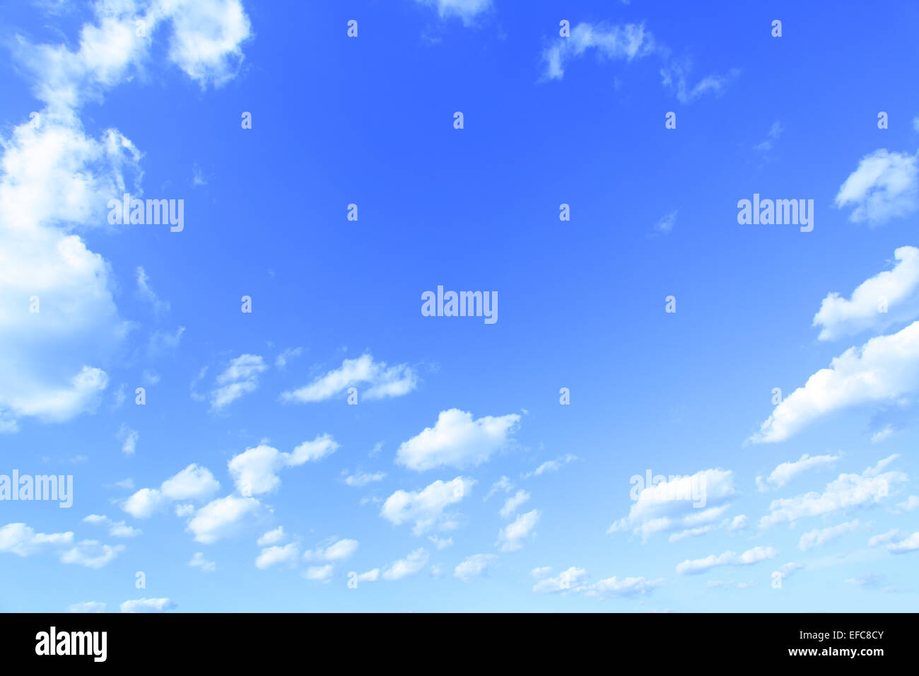 Blue sky, may be used as background - Stock Image