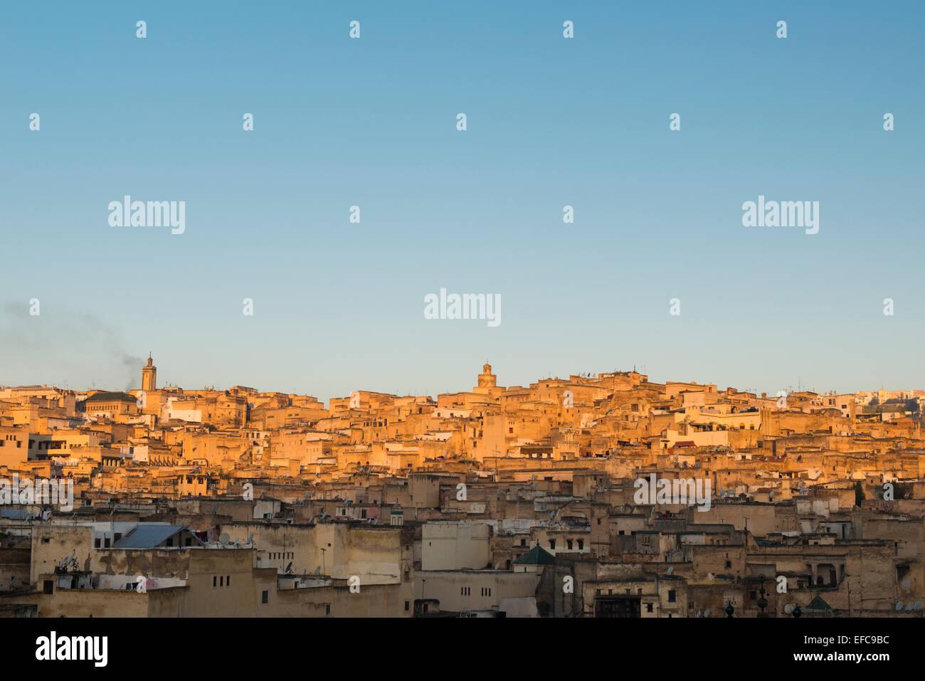 Fes at sunrise, Morocco - Stock Image