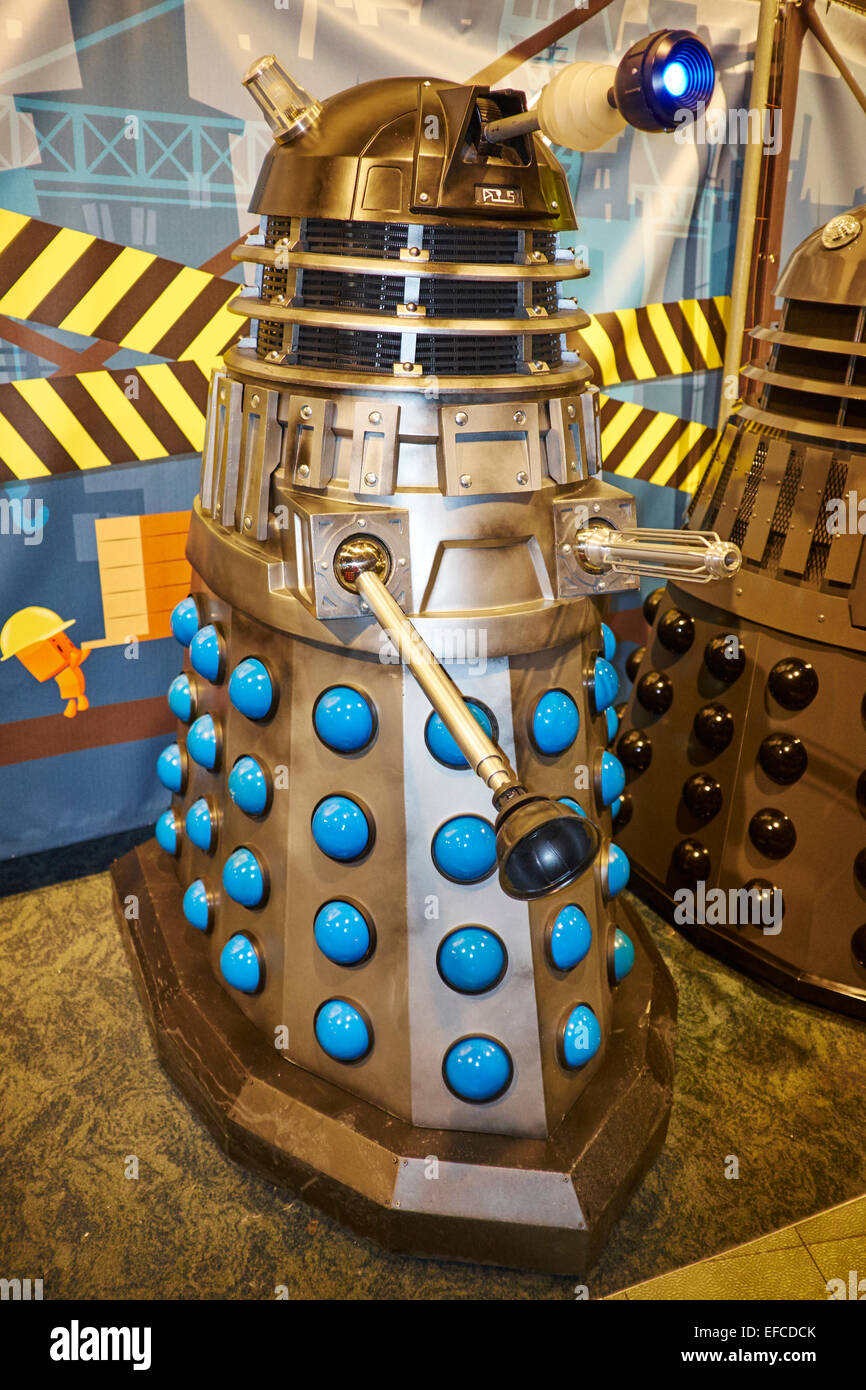 Dalek At The Time Lord Dr Who Exhibition At The National Space Centre Leicester UK - Stock Image
