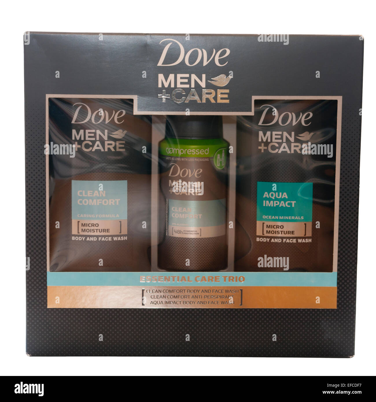 Dove Toiletries Mens Gift Pack - Stock Image