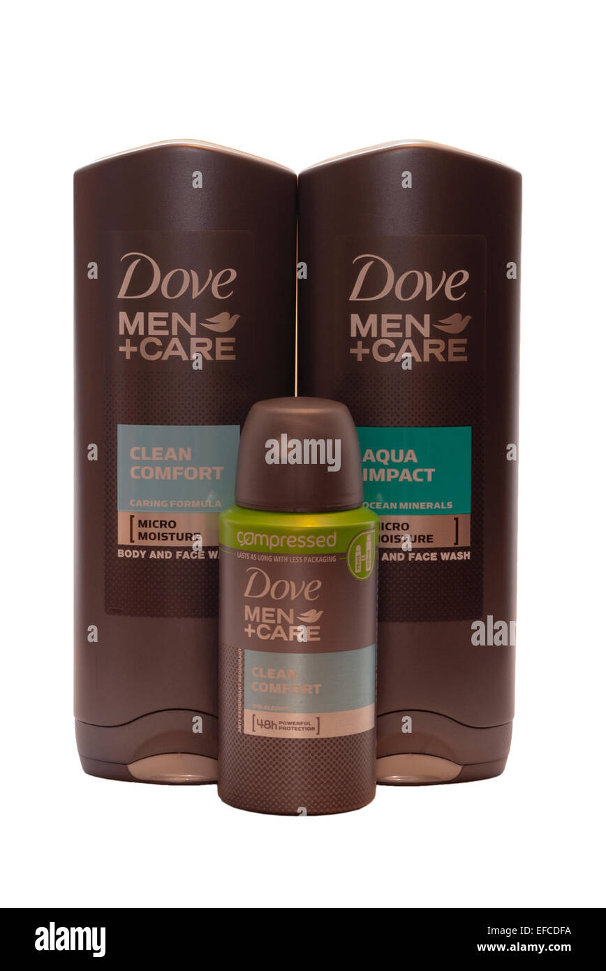 Dove Mens Toiletries Products - Stock Image