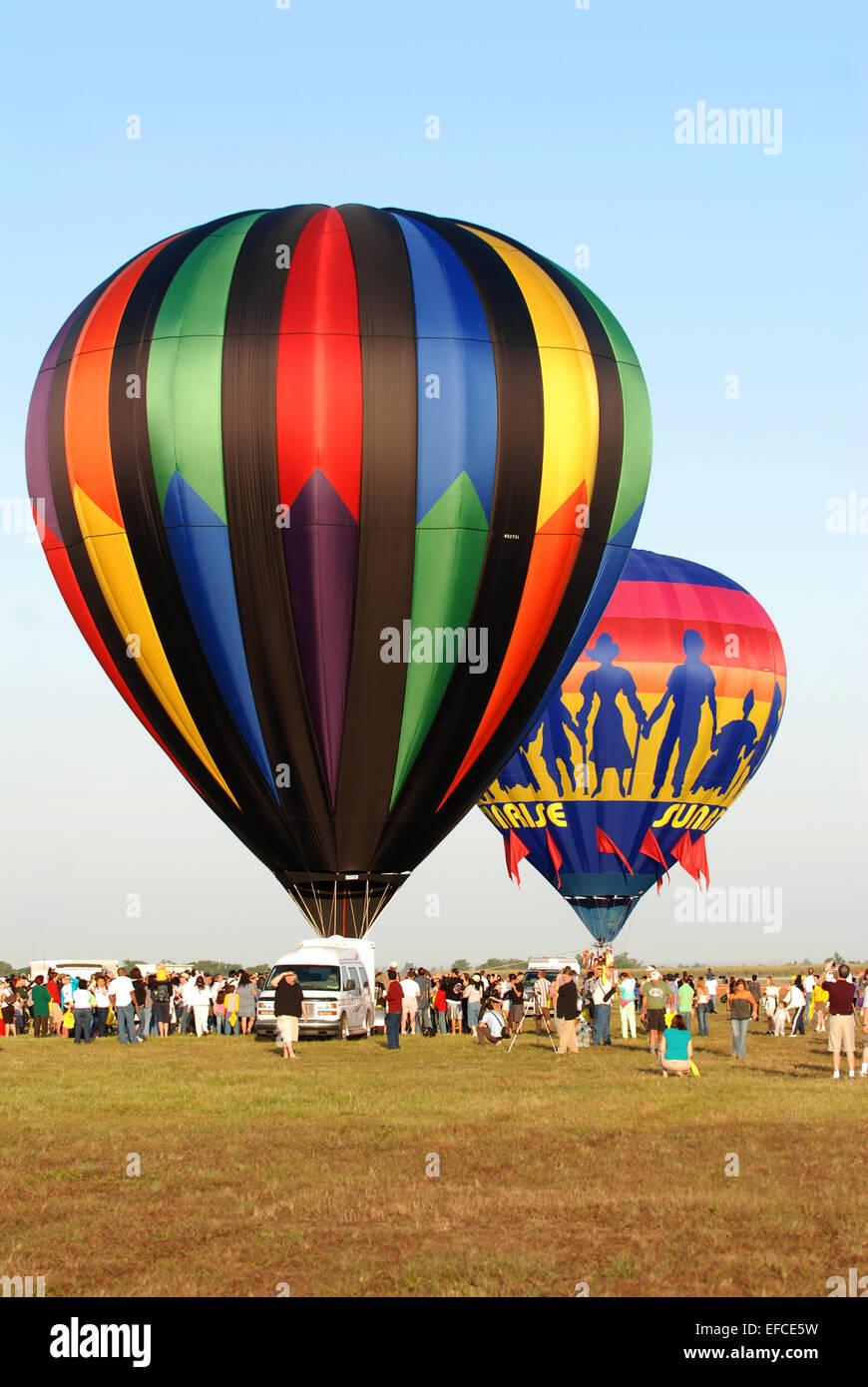 Sunrise communities Balloon Race , Apr 20, 2008, Miami - Stock Image
