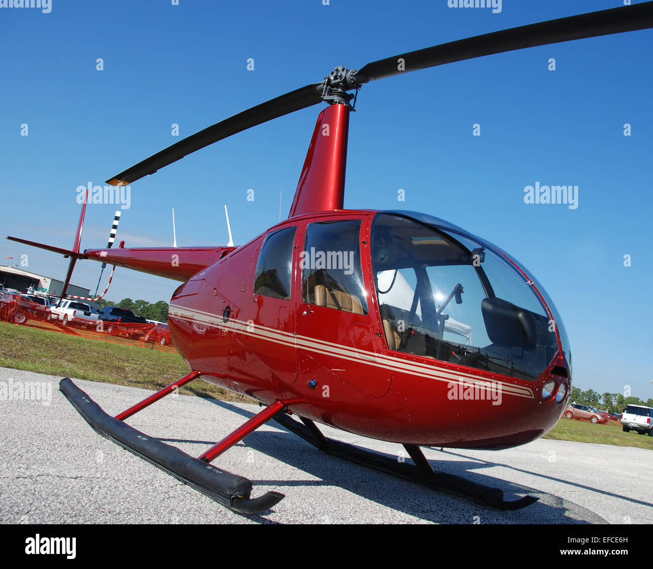 Light helicopter for personal use R44 - Stock Image