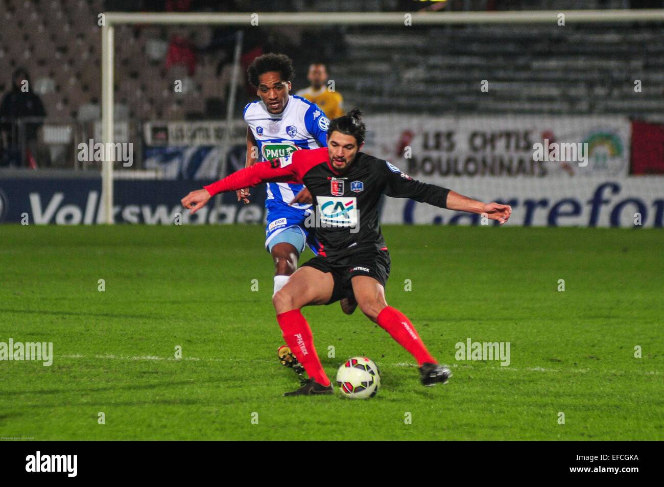 Elohim Rolland - 21.01.2015 - Boulogne/Grenoble - Coupe de France.Photo : Philippe le Brech/Icon Sport - Stock Image
