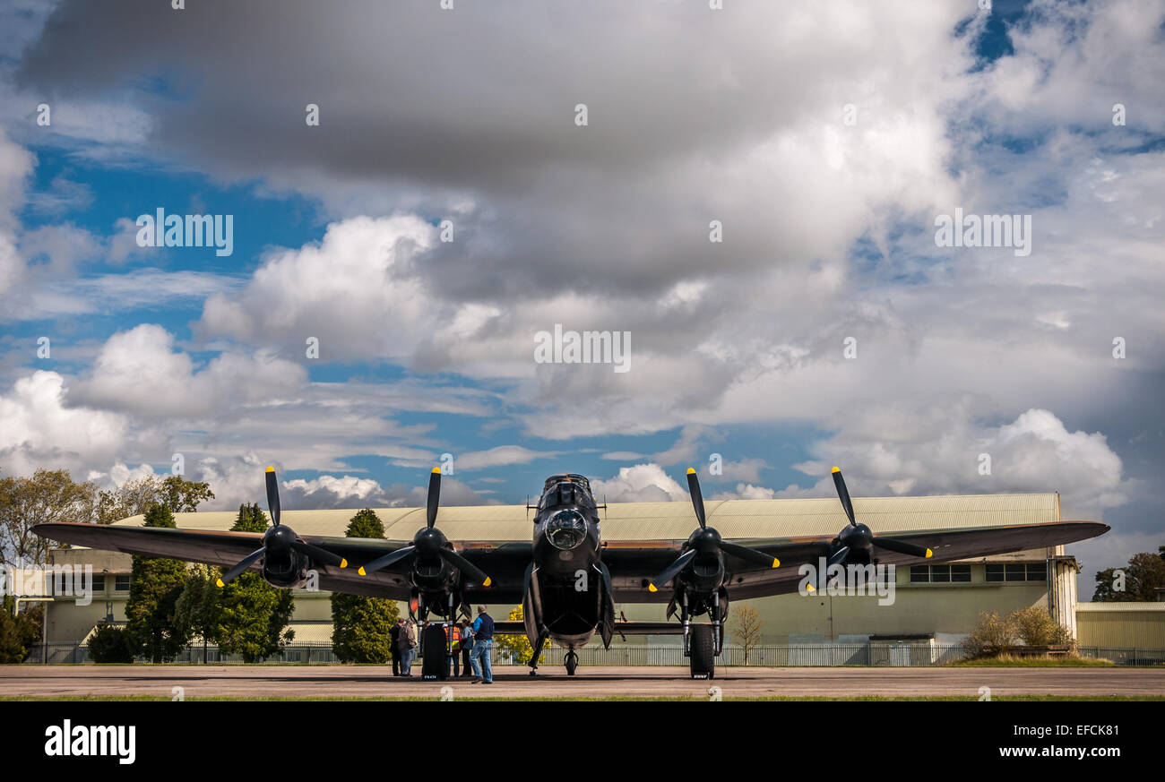 Avro Lancaster B1 second world war heavy bomber, operated by the RAF Battle of Britain Flight - Stock Image