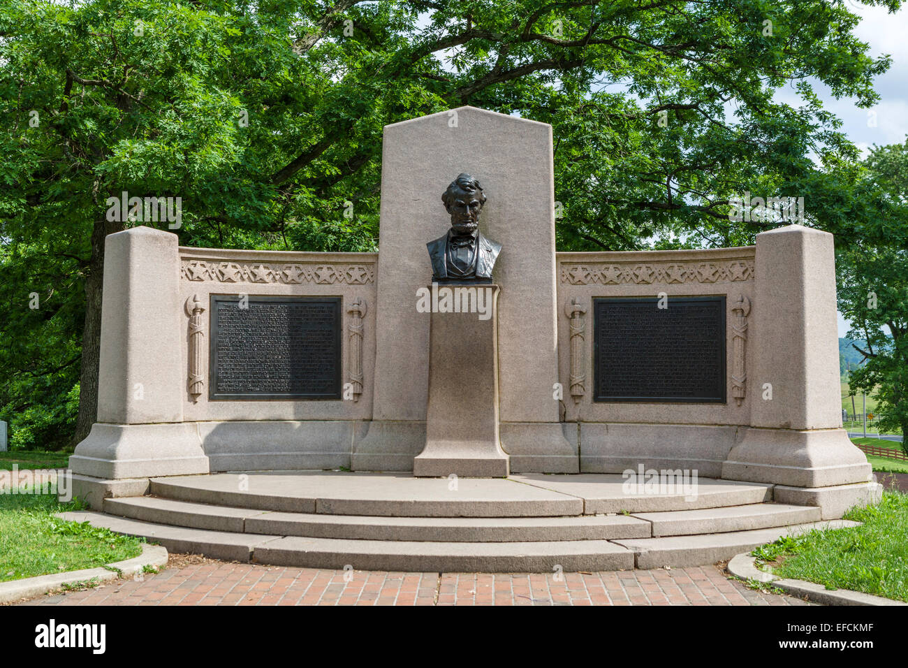 Lincoln Address Memorial in the Soldiers' National Cemetery, Gettysburg National Militiary Park, Pennsylvania, - Stock Image