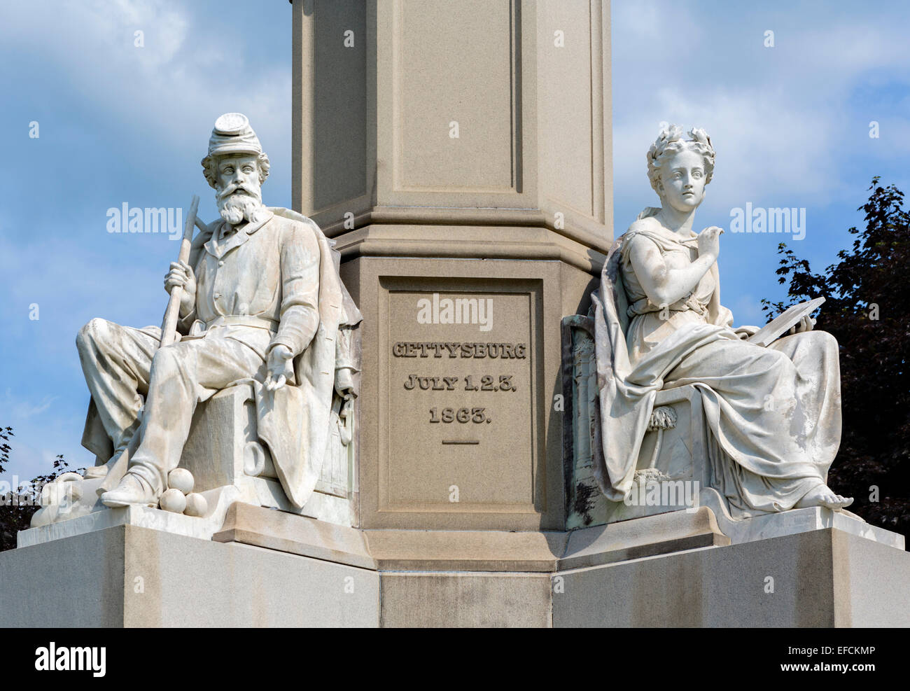 Soldiers' National Monument, site of Gettybsburg Address, Soldiers' National Cemetery, Gettysburg National - Stock Image