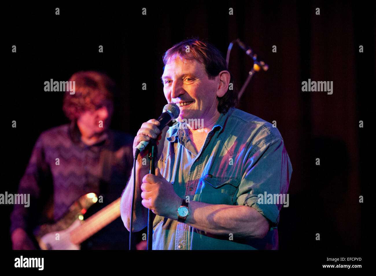 Mike Heron, former member of The Incredible String Band, in concert Trembling Bells, at The Continental, Preston, - Stock Image