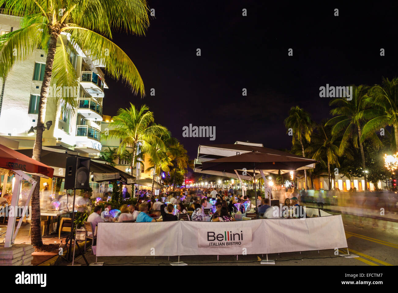 Miami Beach Florida Ocean Drive New Year's Eve Bellini ...