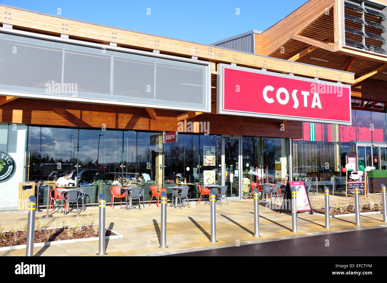 Costa coffee shop, The Bishop Centre, Taplow, Buckinghamshire, England, United Kingdom - Stock Image
