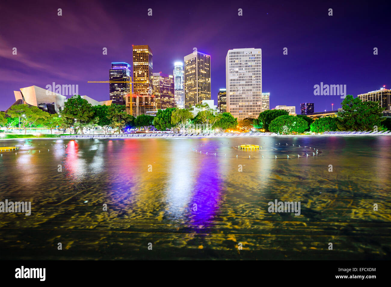 Los Angeles, California, USA downtown city skyline. - Stock Image