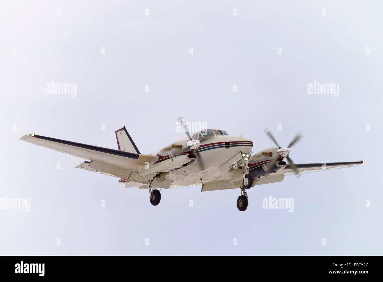 Twin engine aircraft - Stock Image