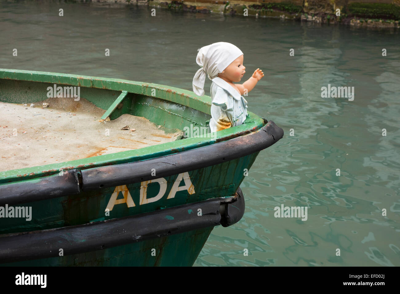 Baby Doll as boats figurehead - Stock Image