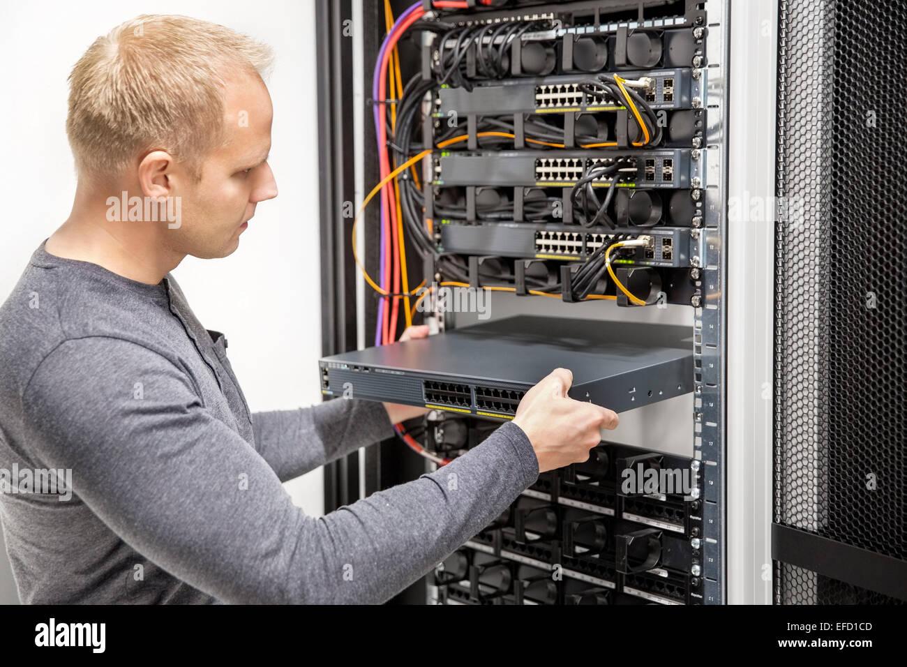 Server Racks In Data Center Stock Photos Rack Wiring Diagram It Consultant Build Network Datacenter Image
