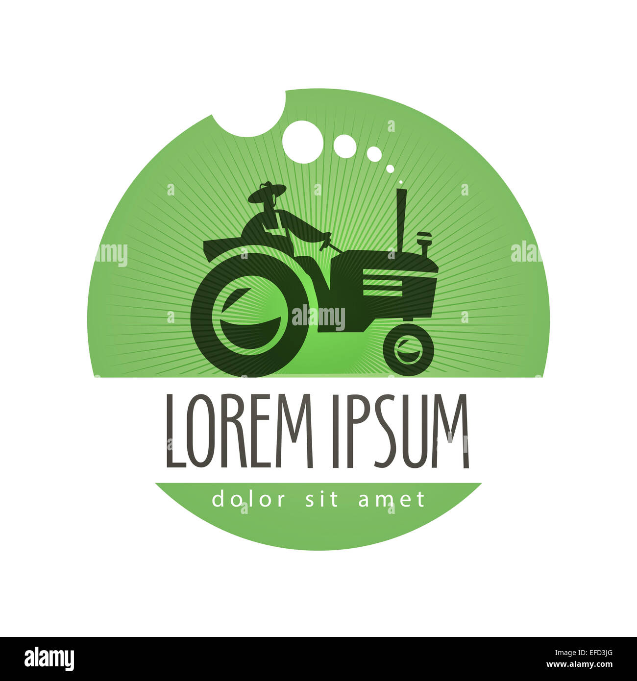tractor vector logo design template farm or natural product icon
