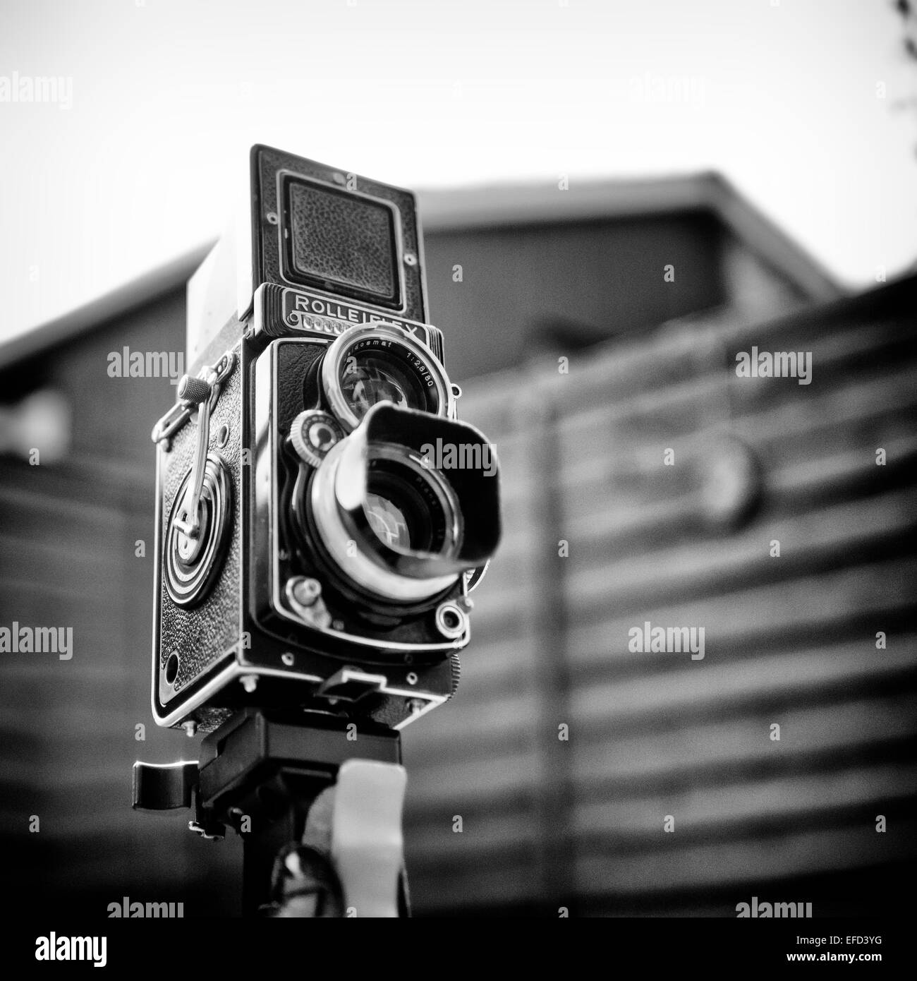 Rolleiflex Twin Lens Reflex Camera Stock Photo