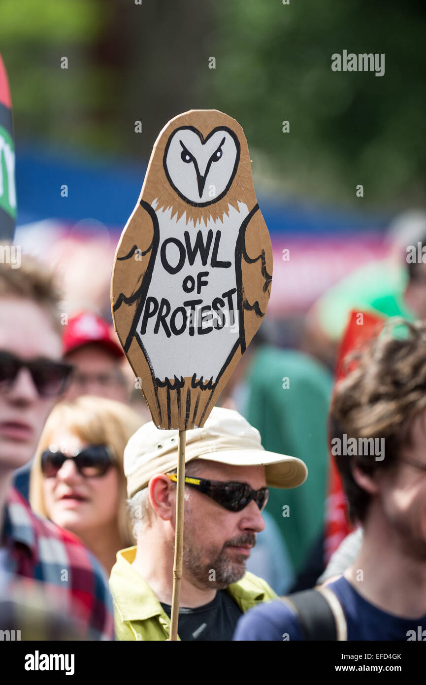 Marchers on the People's Assembly demonstration against Austerity, London, 21st June 2014 - Stock Image