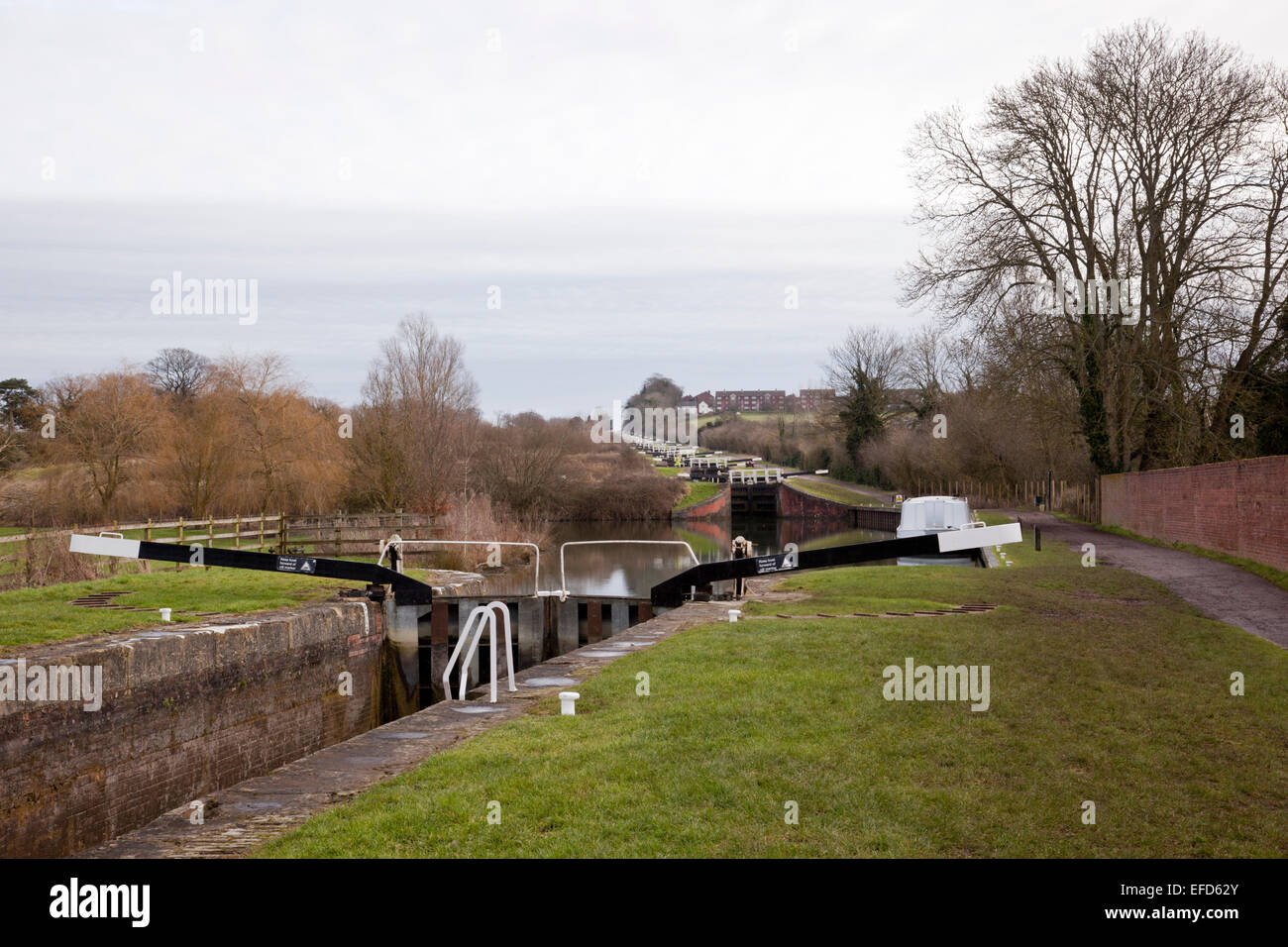 Caen Hill locks, Devizes, Wiltshire - Stock Image