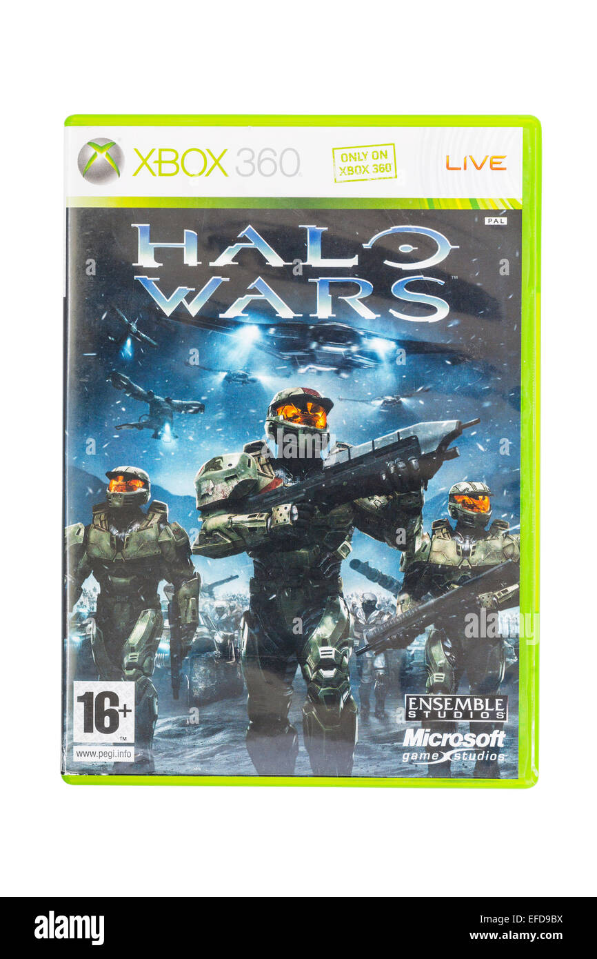 The Microsoft XBOX 360 Halo wars game on a white background - Stock Image