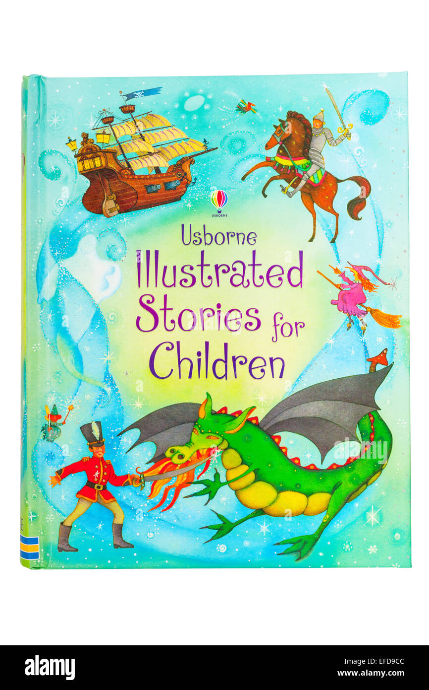 The Usborne Illustrated Stories for Children book on a white background - Stock Image