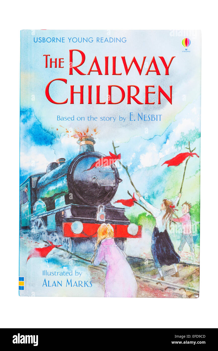 The Railway Children book on a white background - Stock Image