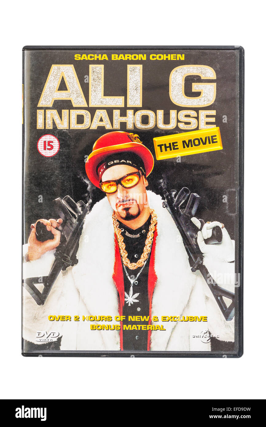 Ali G INDAHOUSE the movie film DVD on a white background - Stock Image