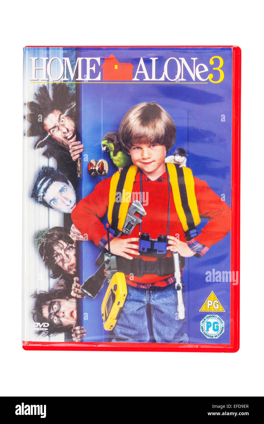 Home Alone 3 The Film Dvd On A White Background Stock Photo Alamy