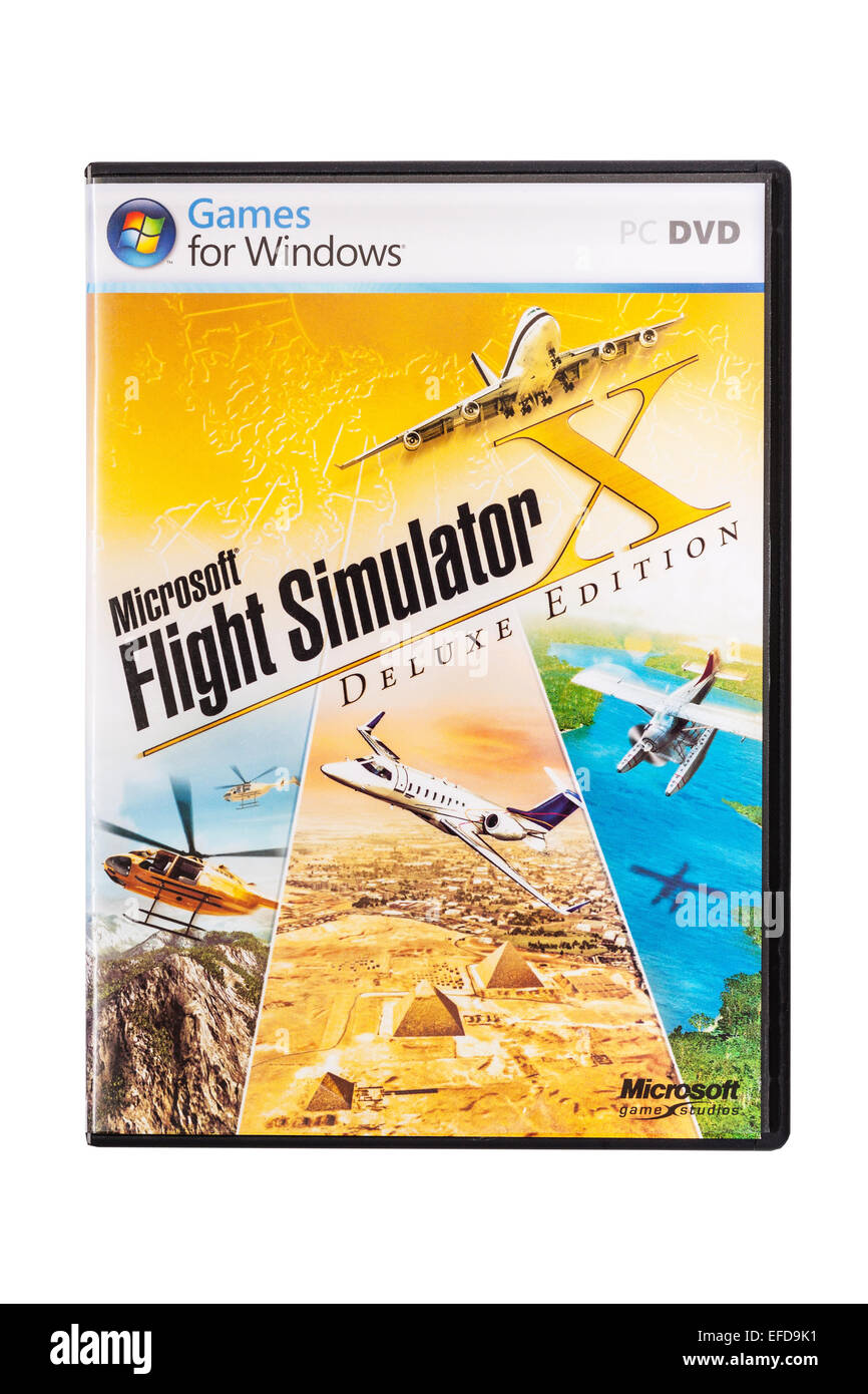 678e76e740f A PC CD-ROM Microsoft Flight Simulator Computer Game on a white background  - Stock