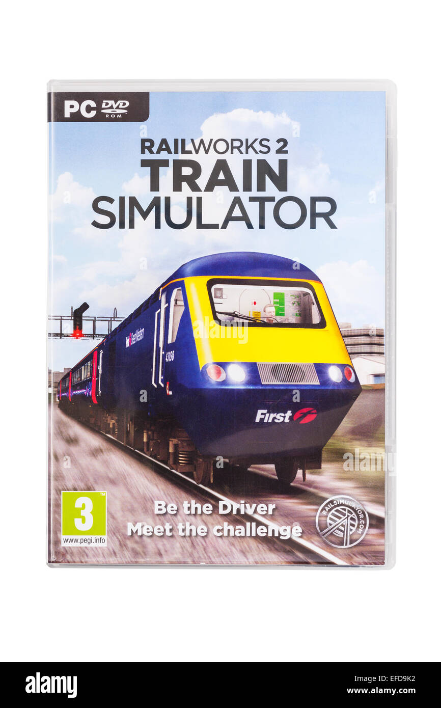 A PC CD-ROM Railworks 2 Train SIMULATOR Computer Game on a white background - Stock Image
