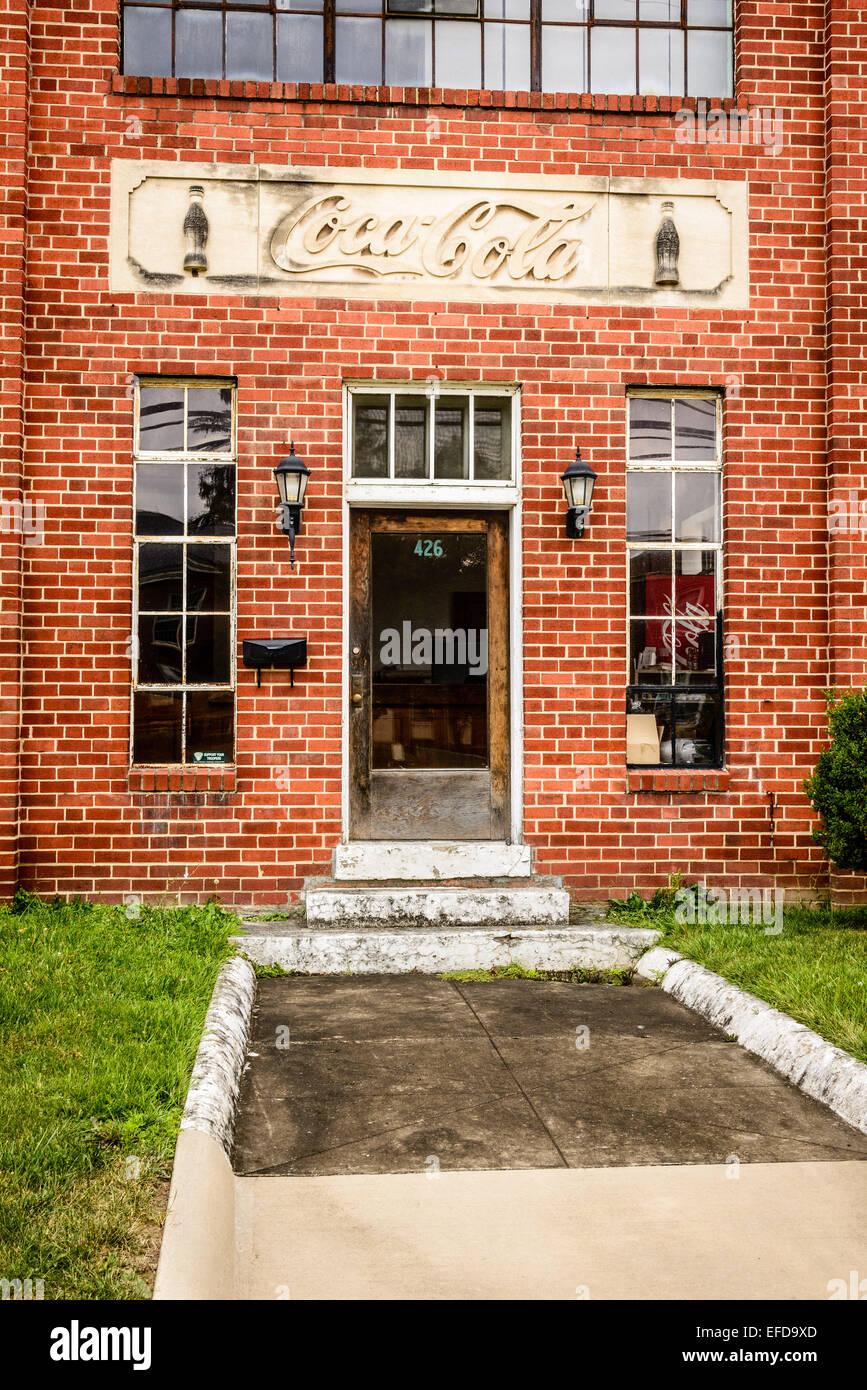 Coca Cola Bottling Plant, Main Street, Romney, West Virginia - Stock Image
