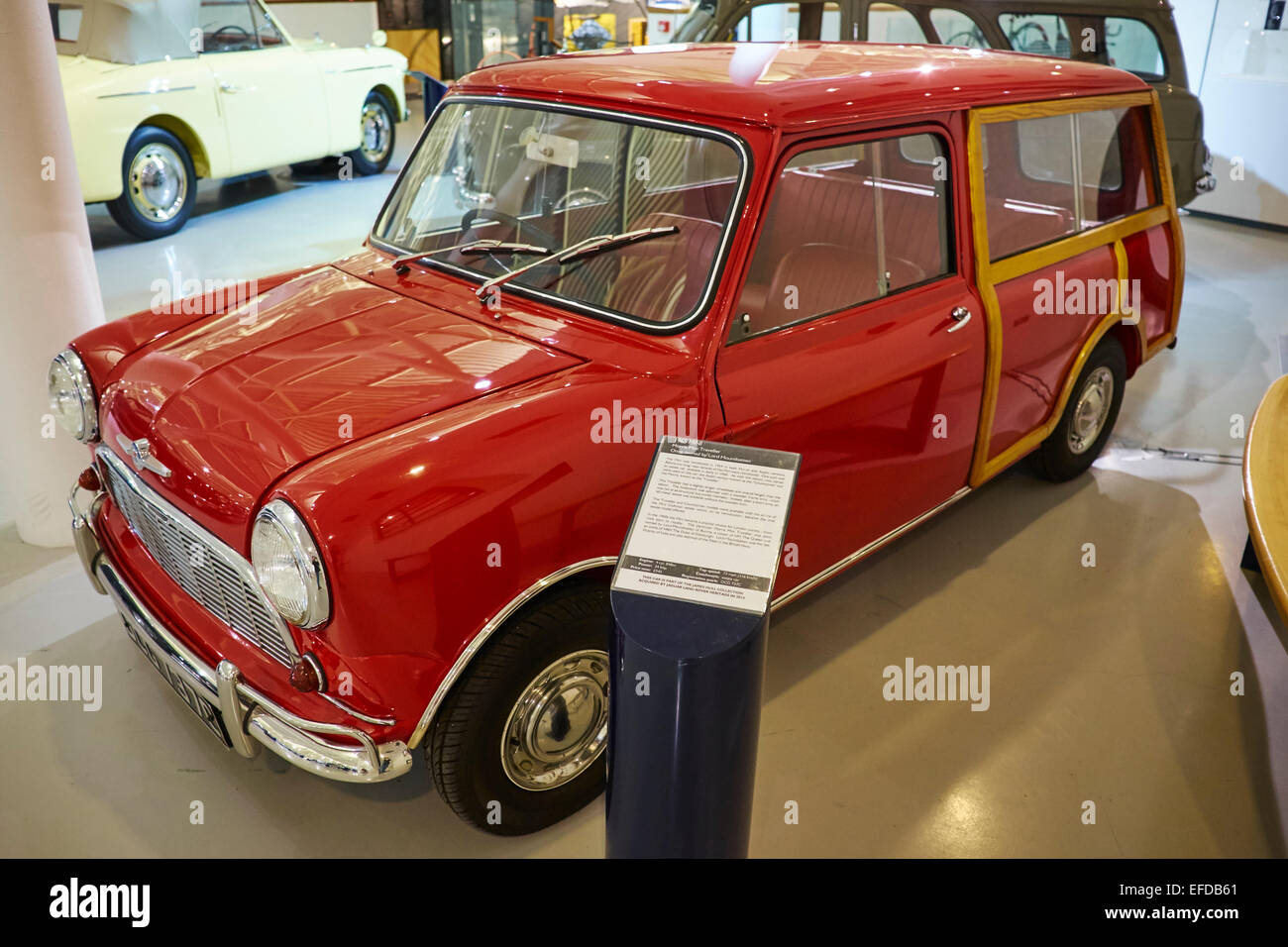 1965 Morris Mini Traveller Once Owned By Lord Mountbatten Heritage Motor Centre Gaydon Warwickshire UK - Stock Image