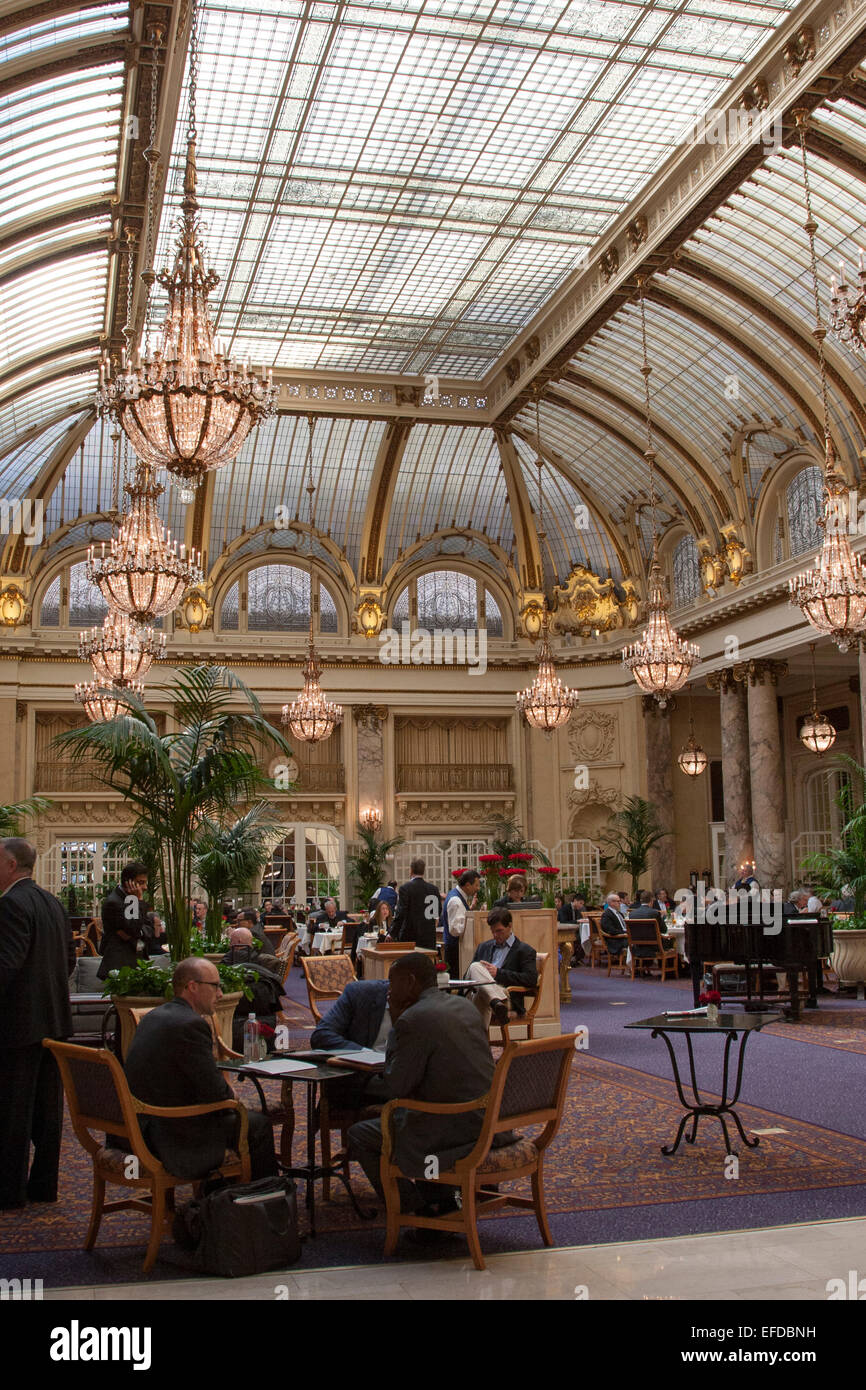 The Garden Court restaurant in The Palace Hotel in San Francisco ...
