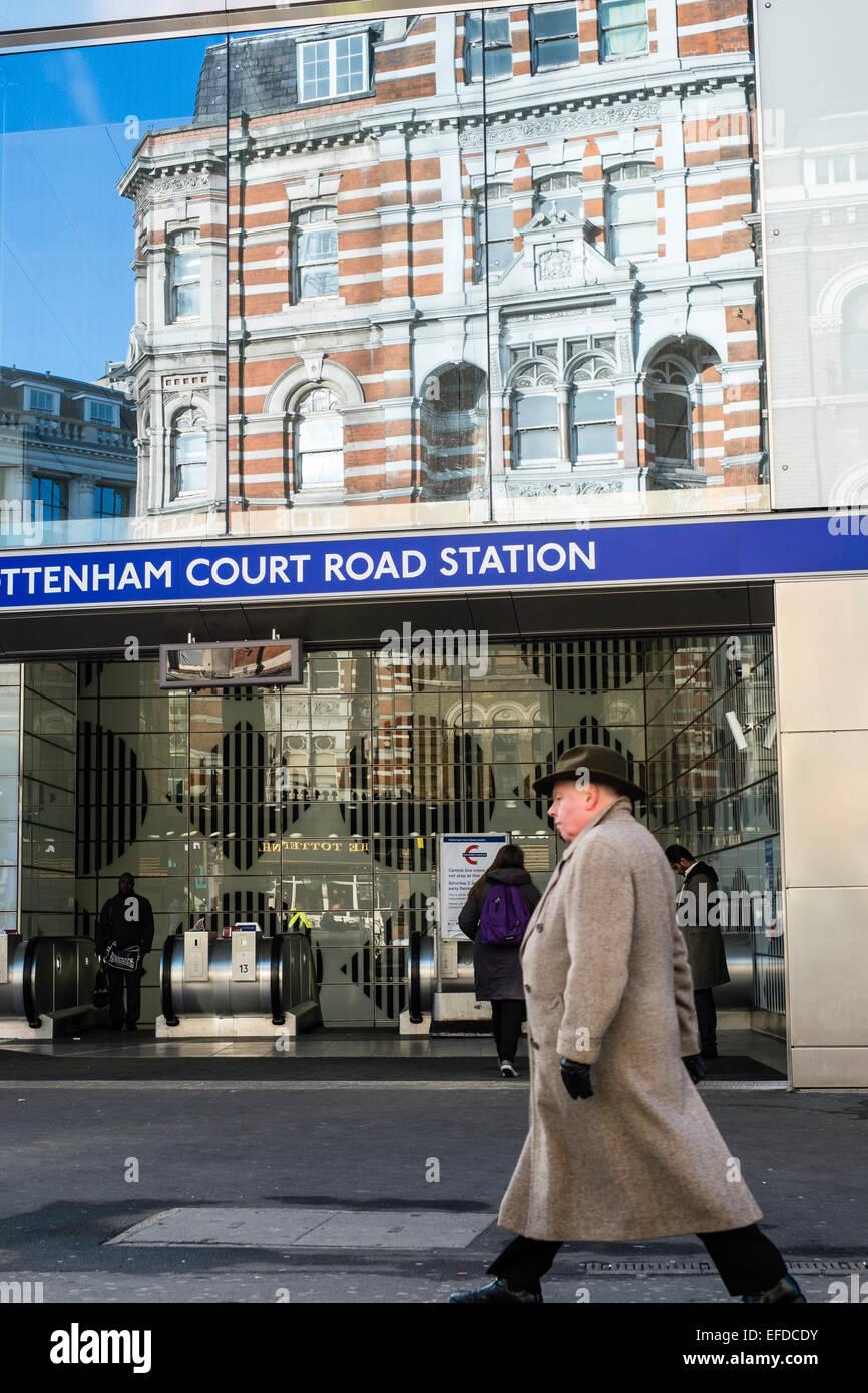 New Tottenham Court Road station, Oxford Street, London, United Kingdom - Stock Image