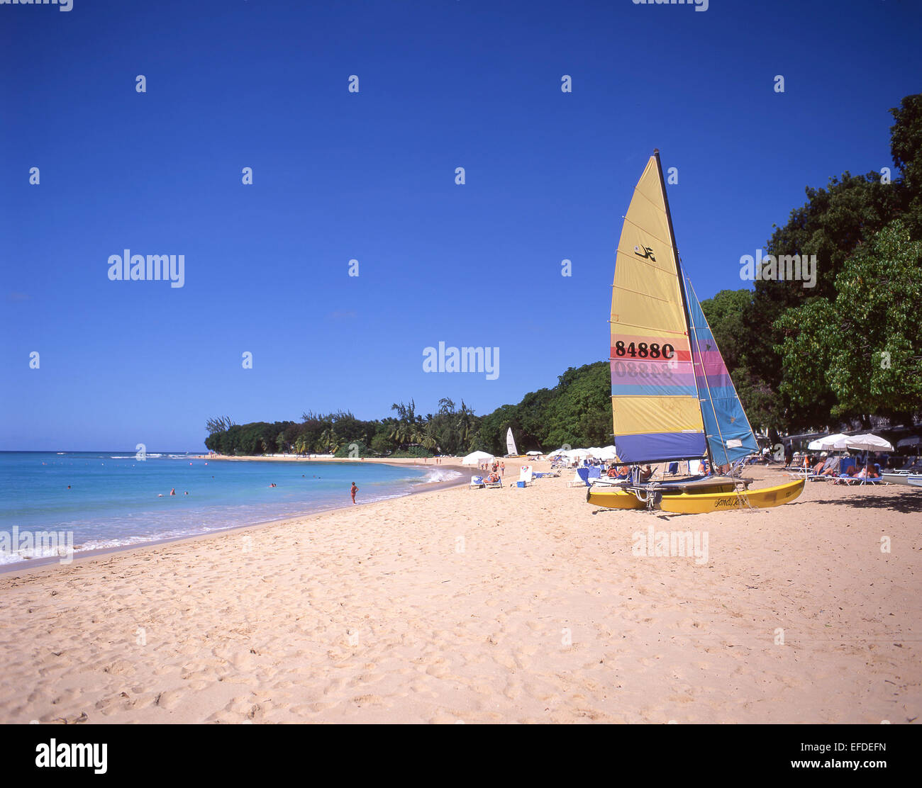Sandy Lane Beach, Saint James Parish, Barbados, Lesser Antilles, Caribbean - Stock Image
