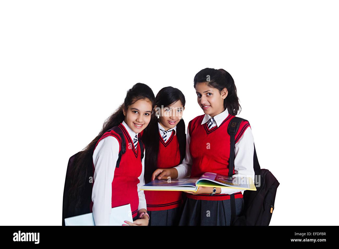 Indian school girl fun here