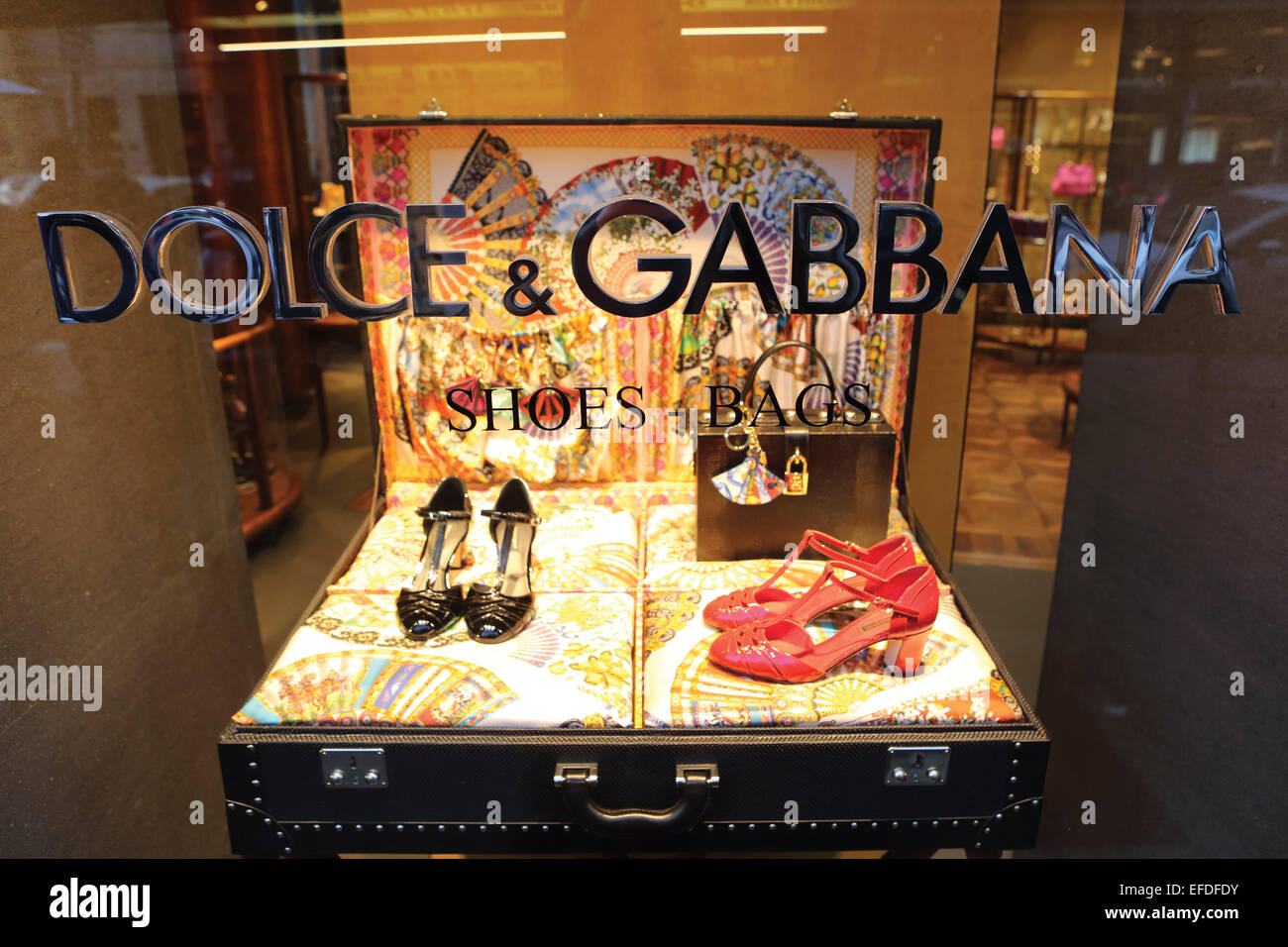 Window of the Dolce and Gabbana store at the Via della Spiga in Milan 846a3674ff02e