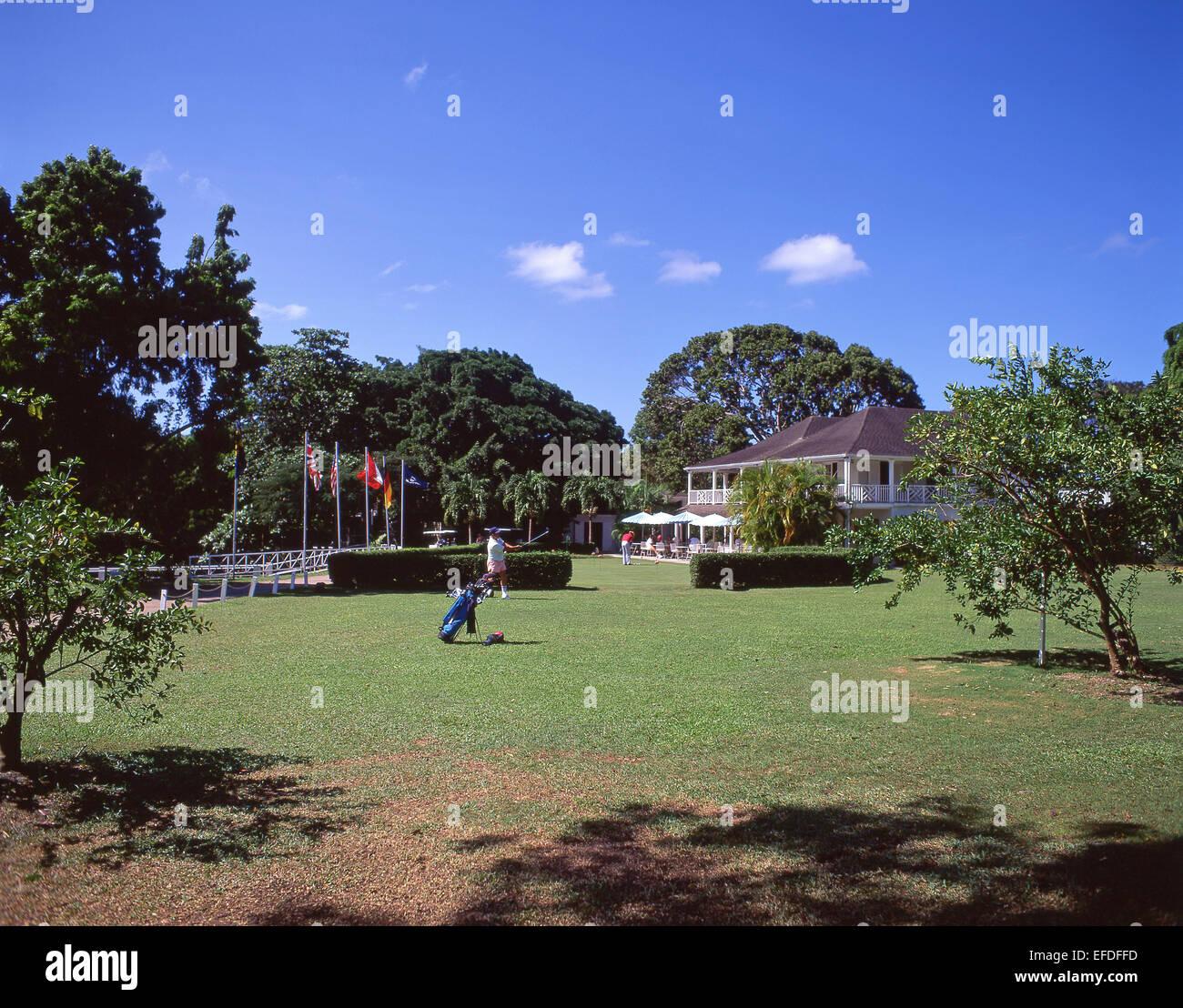 Sandy Lane Hotel Golf Course, Holetown, Saint James, Barbados, Lesser Antilles, Caribbean - Stock Image
