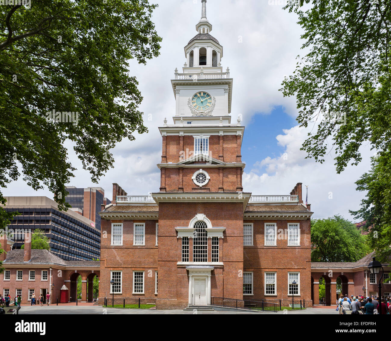 Independence Hall,  Independence National Historical Park, Philadelphia, Pennsylvania, USA - Stock Image