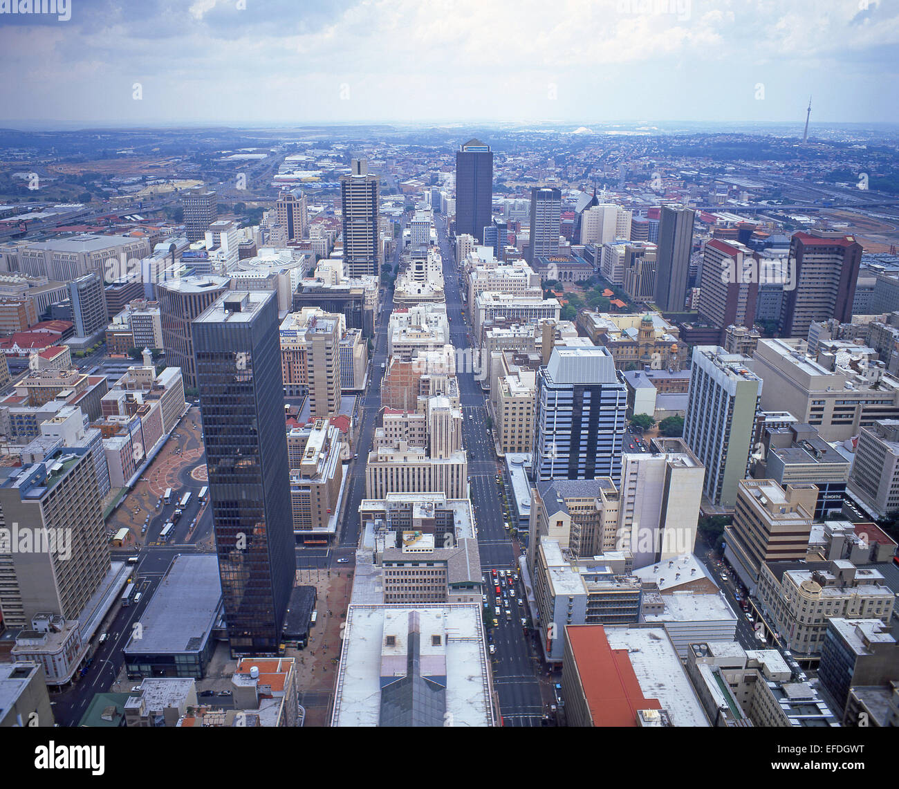 View of downtown CBD, Johannesburg, Gauteng Province, Republic of South Africa - Stock Image