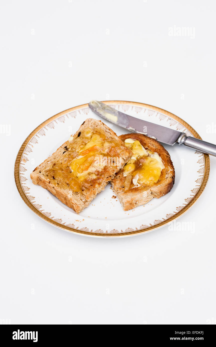 Toast and Marmalade. - Stock Image