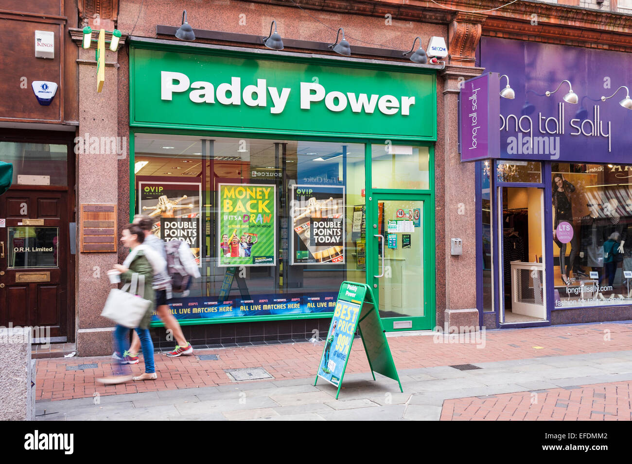 Paddy Power bookmakers shop. - Stock Image
