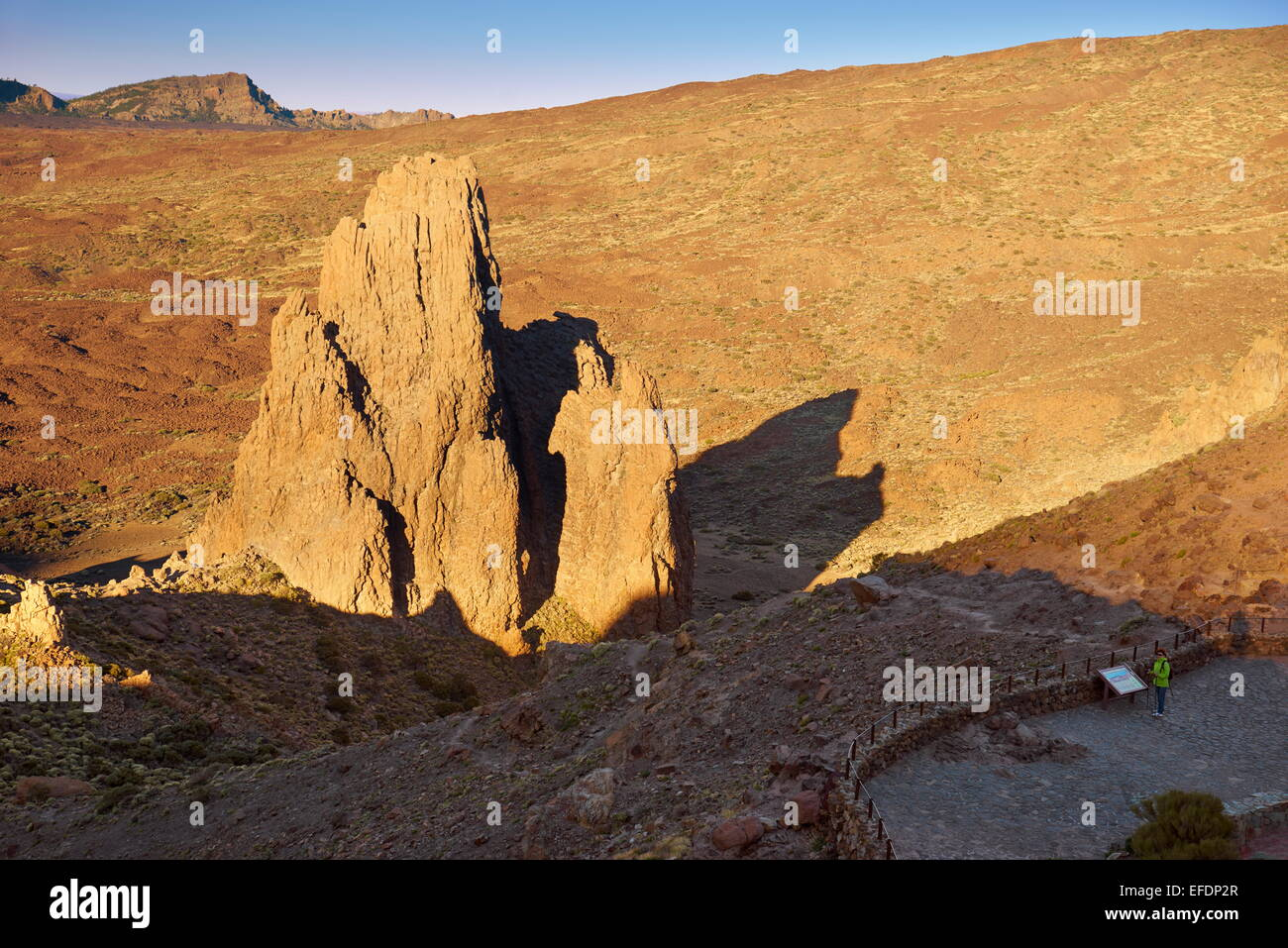 Rock formation in Teide National Park, Tenerife, Canary Islands, Spain - Stock Image