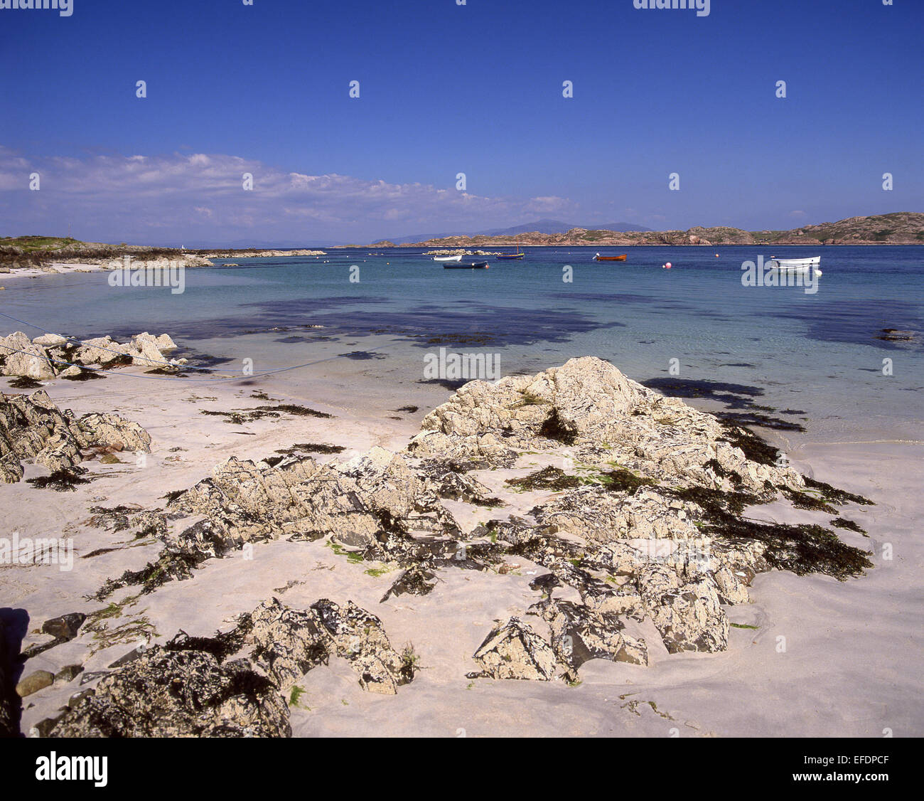 Beach view, Iona, The Inner Hebrides, The Hebrides, Scotland, United Kingdom - Stock Image