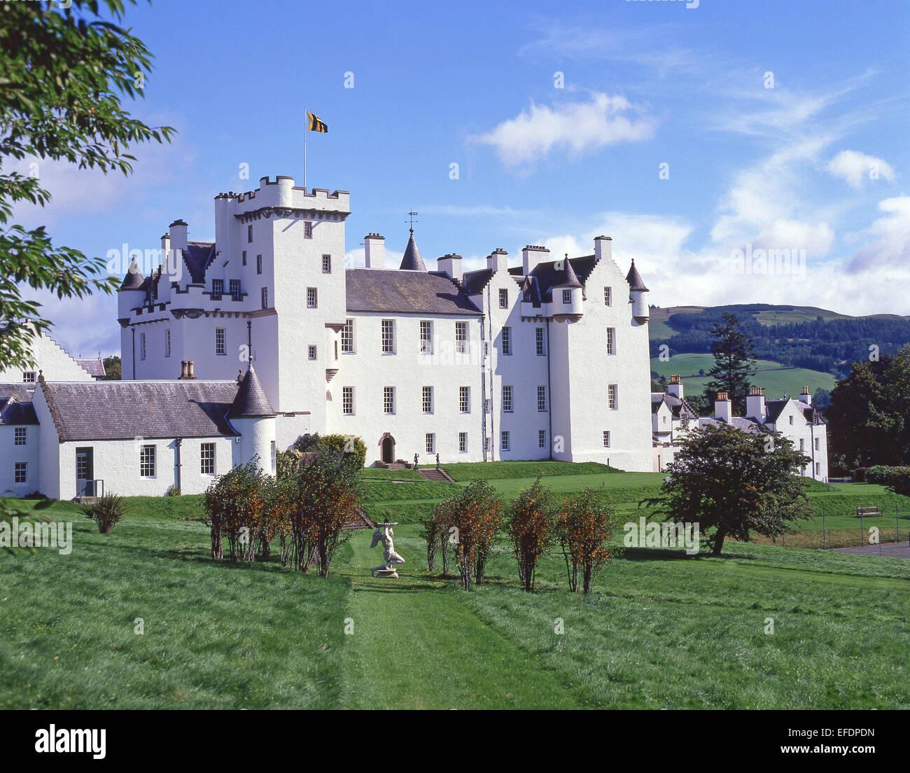 13th century Blair Castle, Blair Atholl, Perth and Kinross, Scotland, United Kingdom - Stock Image