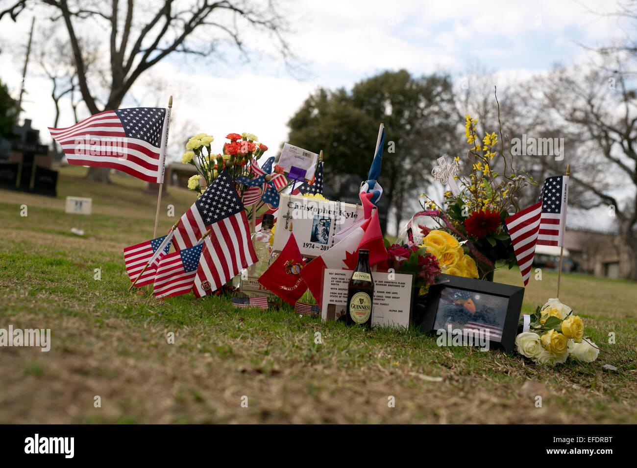 Austin, Texas, USA  1st February, 2015  Memorabilia adorns the Texas