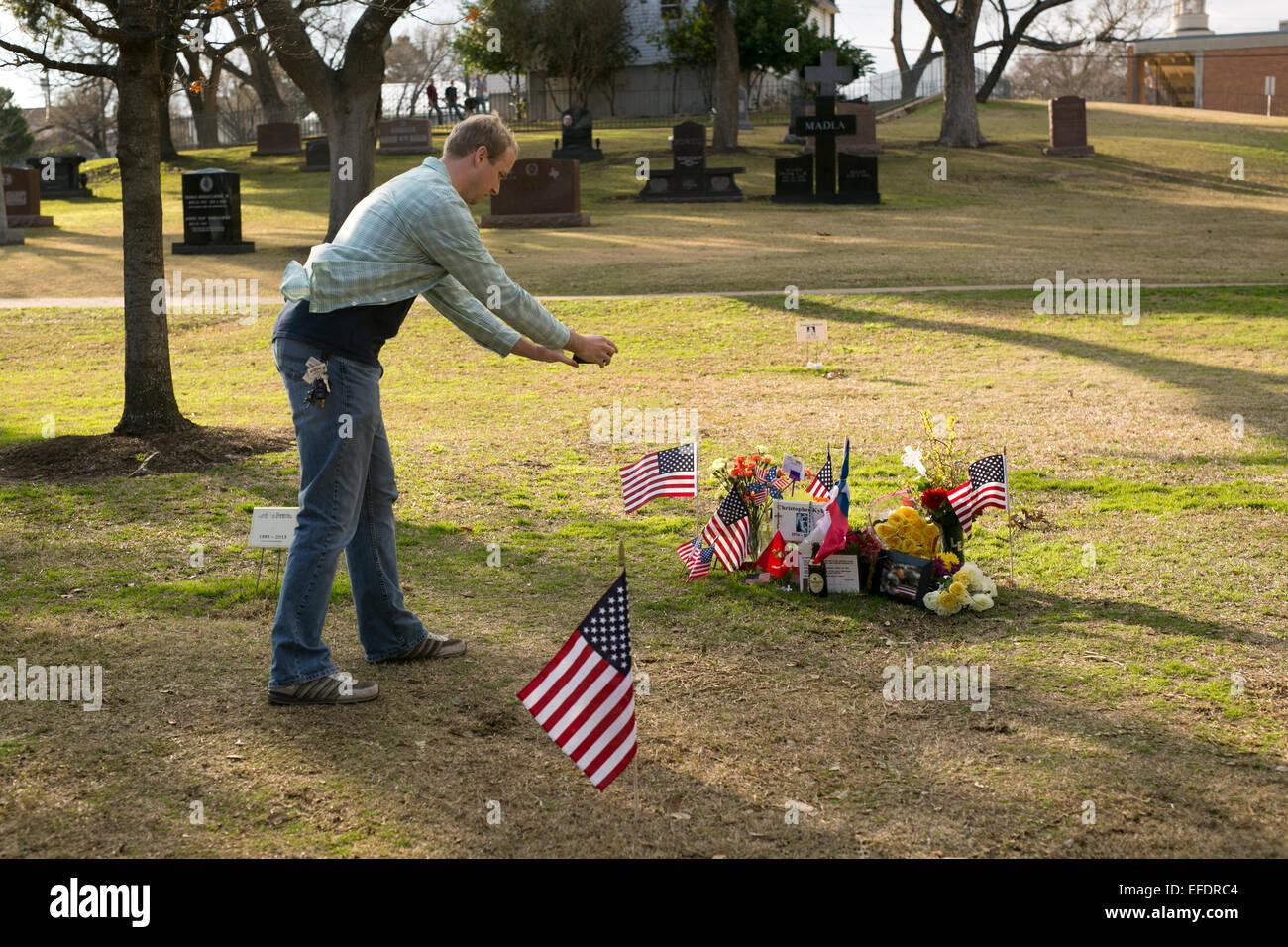 Austin, Texas, USA  1st February, 2015  A visitor photographs Stock