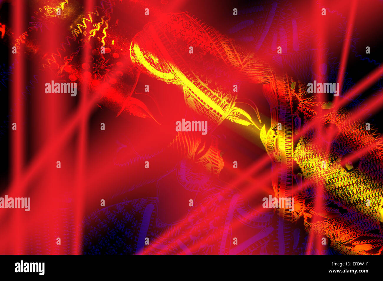a show of lights, a concert state of lights, lights shining down,art design,business design, background , perfect - Stock Image