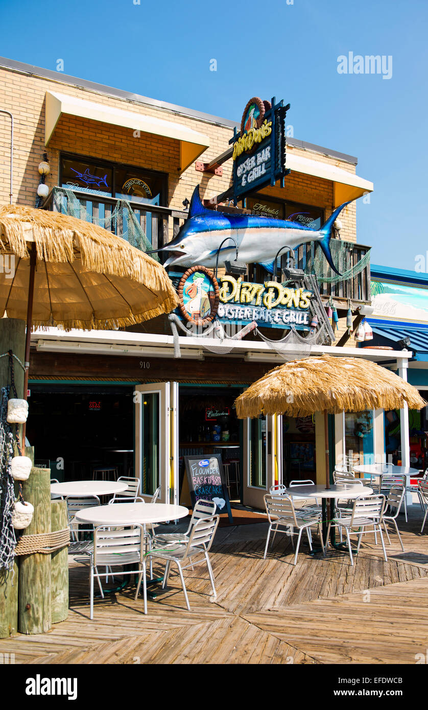 Dirty Don's Oyster Bar and Grill in Myrtle Beach, South Carolina - Stock Image