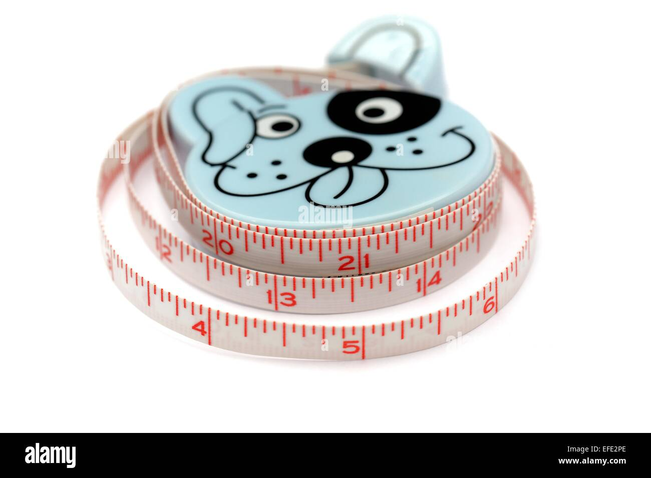 A dog tape measure in inches - Stock Image